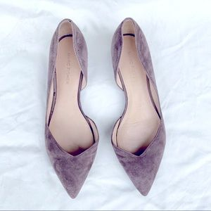 Marc Fisher Warm Taupe Suede Pointy Flats!